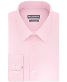 Men's Slim-Fit Performance Stretch Solid Dress Shirt