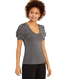 INC Shimmer Puff-Sleeve Sweater, Created for Macy's