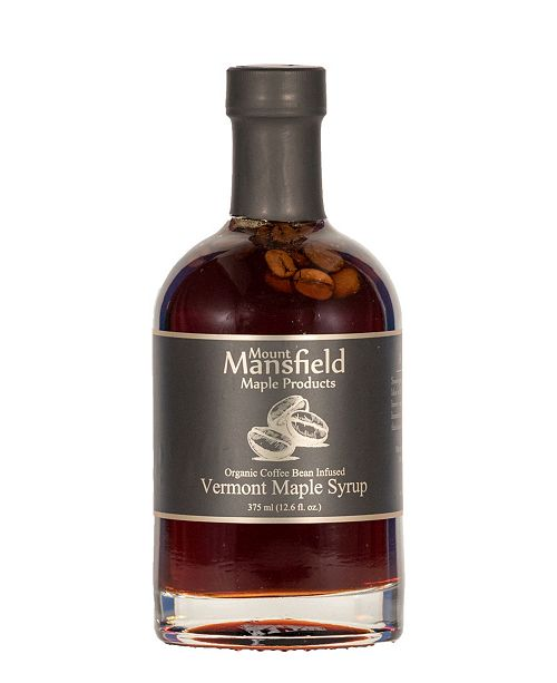 Mount Mansfield Maple Products Coffee Bean Infused Organic Vermont Maple Syrup, 375 ml