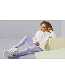 Little Girls 2-Pc. Just Do It Sweatshirt & Leggings Set