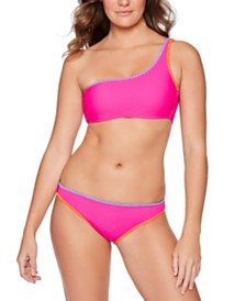 Juniors' One-Shoulder Bikini Top & Bottoms, Created For Macy's