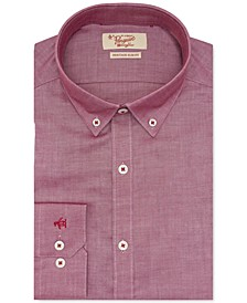 Men's Heritage Slim-Fit Performance Stretch Red Solid Dress Shirt