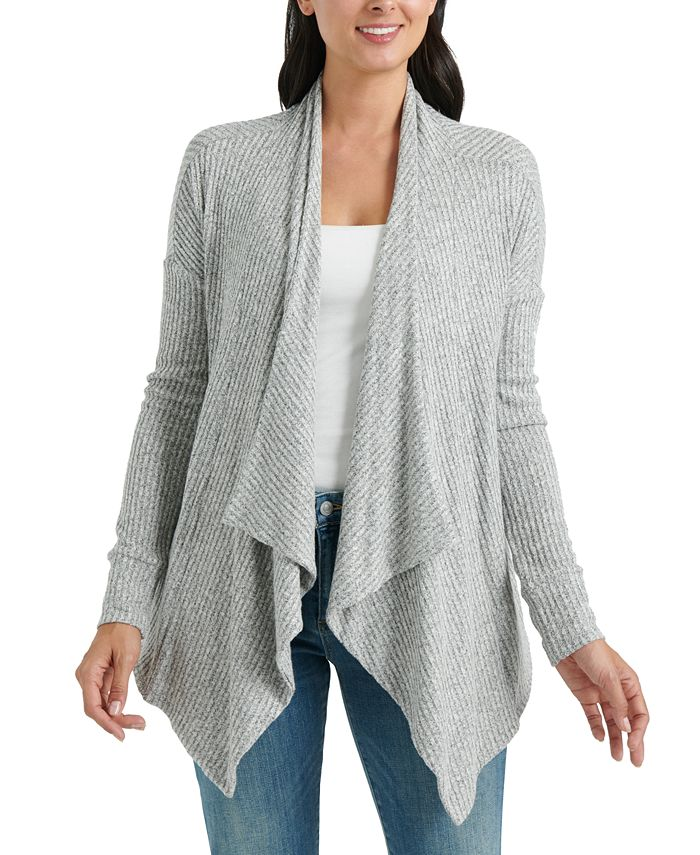 Lucky Brand - Cloud Jersey Handkerchief-Hem Open-Front Cardigan