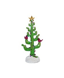 Green Christmas Light Up Cactus Tree