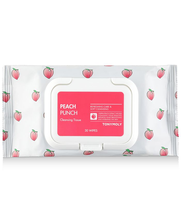 TONYMOLY - Peach Punch Cleansing Tissues