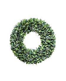 "19"" Green Christmas Curl Wreath"