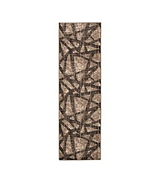 """Expressions Solstice Onyx 2'4"""" x 7'10"""" Runner Rug"""