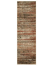 """Expressions Craquelure Ginger 2'4"""" x 7'10"""" Runner Rug"""