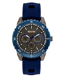 Men's Blue Silicon Strap Sport Watch, 45.5mm