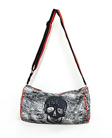 Snakeskin And Skull Print Duffle Bag With Adjustable Strap