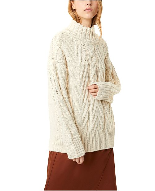 French Connection Nissa Chunky Cable Knit Sweater