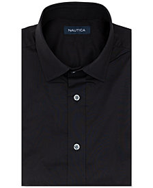 Nautica Men's Classic/Regular-Fit Comfort Stretch White Solid Dress Shirt