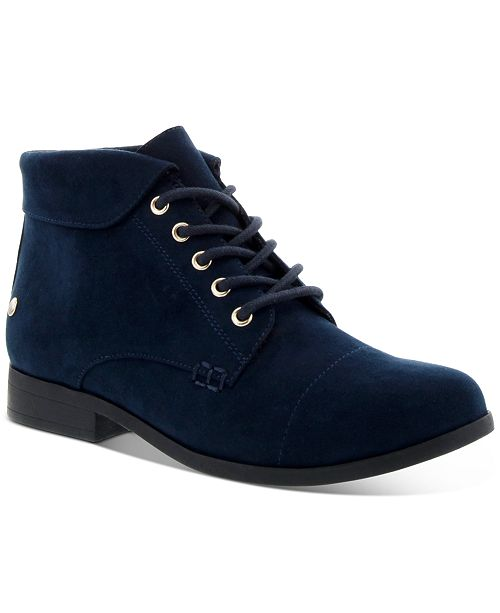Charter Club Women's Crissie Lace-Up Booties, Created For Macy's