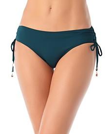 Ruched-Side Bikini Bottoms