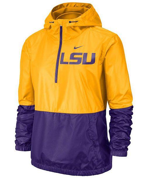Nike Women's LSU Tigers Half-Zip Jacket