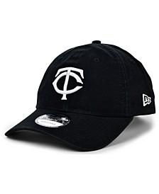 Minnesota Twins Black White 9TWENTY Strapback Cap
