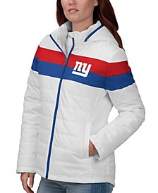 Women's New York Giants Tie Breaker Polyfill Jacket
