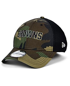 Cleveland Browns Black White Camo Mold Neo 39THIRTY Stretch Fitted Cap