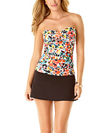 Anne Cole Twisted Tankini Top & Swim Skirt
