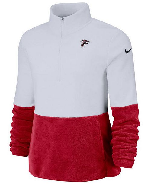 Nike Women's Atlanta Falcons Half-Zip Therma Fleece Pullover