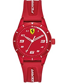 Kid's Red Rev Red Silicone Strap Watch 34mm