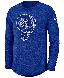 Men's Los Angeles Rams Historic Marled Raglan T-Shirt