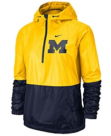 Women's Michigan Wolverines Half-Zip Jacket