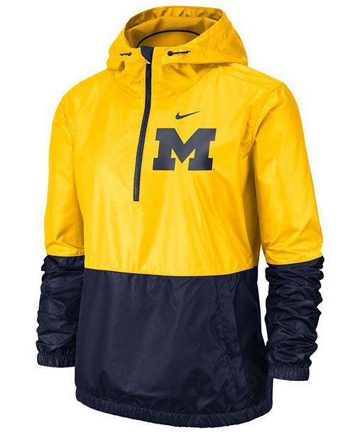Nike Women's Michigan Wolverines Half-Zip Jacket