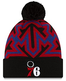 Philadelphia 76ers Big Flake Pom Knit Hat