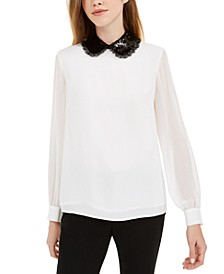 Lace-Collar Blouse