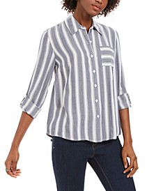 Striped Utility Shirt, Created for Macy's