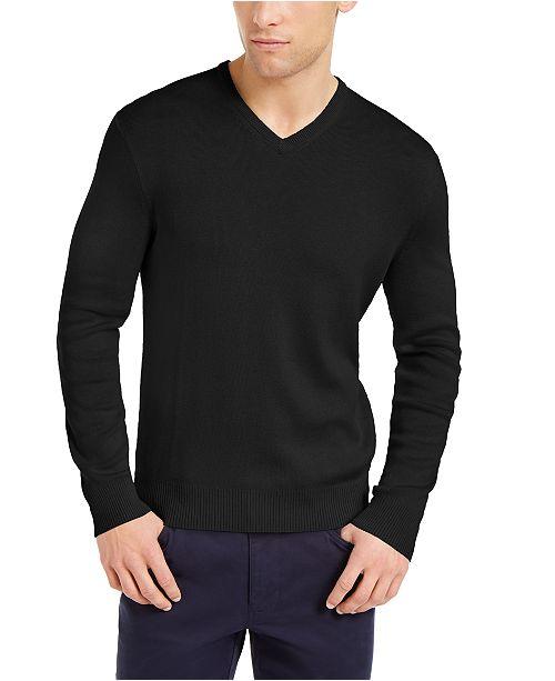 Calvin Klein Men's Regular-Fit V-Neck Sweater