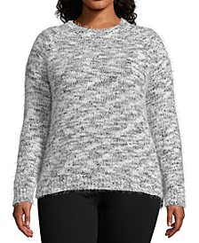 Plus Size Marled Eyelash Sweater