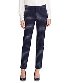 Petite Polka-Dot Stretch Twill Pants