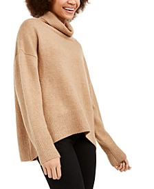 Nian High-Low Turtleneck Sweater
