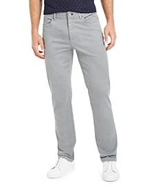 Men's Slim-Fit Printed Texture Pants