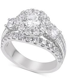 Diamond Split-Setting Bridal Ring (3 ct. t.w.) in 14k White Gold