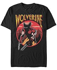 Men's Classic Games Wolverine Pixel Nes, Short Sleeve T-Shirt