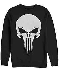 Men's Punisher Skull Logo, Crewneck Fleece