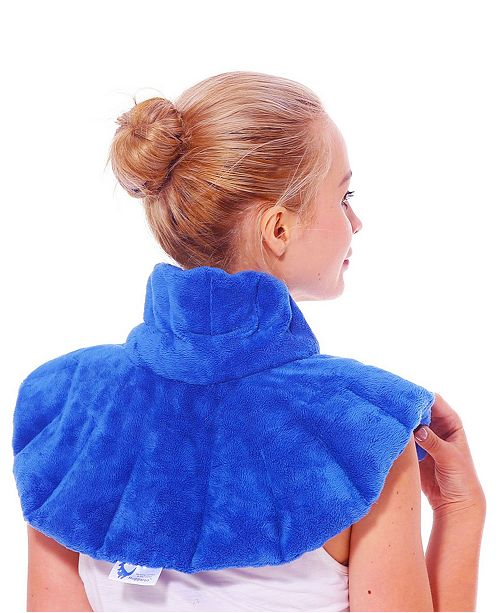 Huggaroo Original Neck and Shoulder Wrap Microwavable Heating Pad with Herbal Aromatherapy