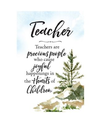 Dexsa Teachers are Woodland Grace Series 6 x 9 Wood Plaque with Easel