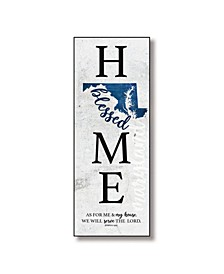 "Maryland Home-Blessed Wood Wall Plaque with Hanger, 5.5"" x 12"""