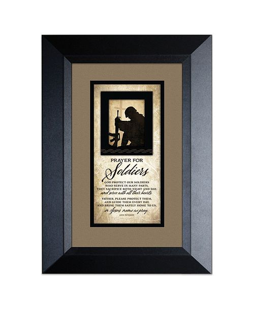 """James Lawrence Company James Lawrence Prayer for Soldiers Wood Framed Art with Easel, 8.5"""" x 12.5"""""""