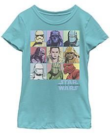 Big Girls Rise of Skywalker Pastel Rey Box Up Short Sleeve T-Shirt