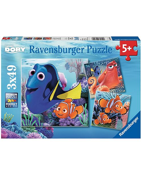 Ravensburger Finding Dory 3-in-1 Jigsaw Puzzle Multi-Pack - Finding Dory - 3 x 49 Piece