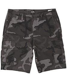 Men's Scheme Core-Fit Camouflage Cargo Shorts