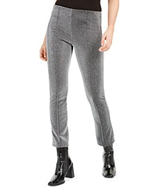 Metallic Seam-Front Pants