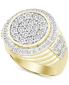 Men's Diamond Round Cluster Ring (3 ct. t.w.) in 10k Gold