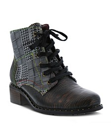 Women's Mazoya Unique Tooled Metallic Booties