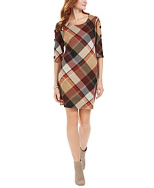 Petite Plaid Sheath Dress